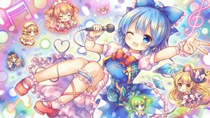 Rating: Safe Score: 36 Tags: aqua_eyes aqua_hair blonde_hair blush bow braids brown_hair cat_smile chibi cirno daiyousei dress fairy fang garter green_hair group hat kirisame_marisa lily_white loli long_hair luna_child microphone orange_eyes orange_hair pjrmhm_coa ponytail short_hair skirt socks star_sapphire sunny_milk touhou twintails waifu2x wings wink witch witch_hat wristwear yellow_eyes User: otaku_emmy