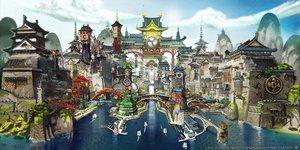 Rating: Safe Score: 44 Tags: building city final_fantasy final_fantasy_xiv scenic square_enix water User: SciFi