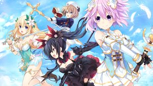 Rating: Safe Score: 75 Tags: aliasing black_hair blanc blonde_hair blue_eyes book boots breasts brown_hair cleavage clouds dress feathers flowers four_goddesses_online:_cyber_dimension_neptune gloves group hyperdimension_neptunia long_hair neptune noire ponytail purple_eyes purple_hair red_eyes short_hair sky staff sword thighhighs tsunako vert weapon User: BattlequeenYume