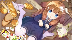 Rating: Safe Score: 36 Tags: alternative_girls animal animal_ears aqua_eyes brown_hair cat doggirl dress food fruit loli long_hair pantyhose strawberry tagme_(character) tears tsubasa_tsubasa User: BattlequeenYume