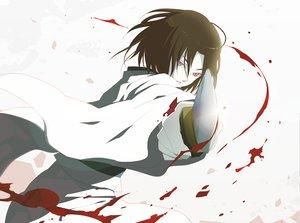 Rating: Safe Score: 28 Tags: blood kara_no_kyoukai knife ryougi_shiki white User: w7382001