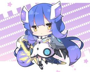 Rating: Safe Score: 30 Tags: armor blue_hair boots chibi cropped dress kneehighs long_hair milkpanda phantasy_star_online phantasy_star_online_2 sword weapon yellow_eyes User: otaku_emmy