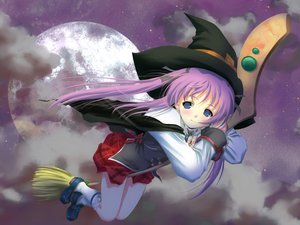 Rating: Safe Score: 4 Tags: hat moon skirt witch wiz_anniversary User: Oyashiro-sama