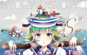 Rating: Safe Score: 39 Tags: blue_eyes goggles green_hair gumi nou short_hair vocaloid water User: Flandre93