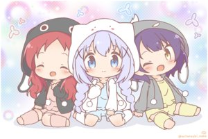 Rating: Safe Score: 3 Tags: blue_eyes blue_hair chibi gochuumon_wa_usagi_desu_ka? hoodie jouga_maya kafuu_chino loli mitarashi_neko natsu_megumi orange_hair purple_hair watermark wink yellow_eyes User: Xionglongztz