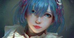 Rating: Safe Score: 91 Tags: aqua_eyes aqua_hair close realistic rem_(re:zero) re:zero_kara_hajimeru_isekai_seikatsu scorpionfish short_hair signed User: BattlequeenYume