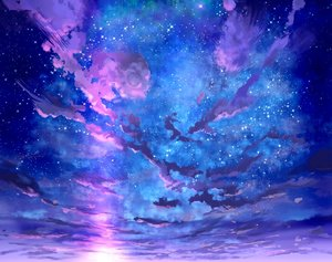 Rating: Safe Score: 65 Tags: clouds cropped foo_midori original polychromatic scenic sky stars sunset User: otaku_emmy