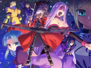 Rating: Safe Score: 39 Tags: archer artoria_pendragon_(all) assassin berserker bow bow_(weapon) cu_chulainn fate_(series) fate/stay_night gilgamesh group koume_keito male medea_(fate) rider saber sky weapon User: acucar11