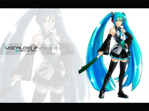Rating: Safe Score: 18 Tags: blue_eyes blue_hair hatsune_miku headphones leek long_hair skirt tie twintails vocaloid zoom_layer User: atlantiza