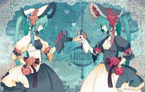 Rating: Safe Score: 91 Tags: doll dress flowers goth-loli hatsune_miku lolita_fashion puppet ribbons rokuroku rose twintails vocaloid User: Kunimura
