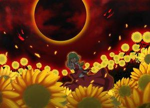 Rating: Safe Score: 42 Tags: flowers green_hair kazami_yuuka red_eyes short_hair skirt sunflower touhou User: Tensa