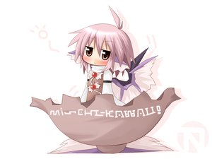 Rating: Safe Score: 26 Tags: blush brown_eyes chibi mystia_lorelei shinshia short_hair touhou wings User: SciFi