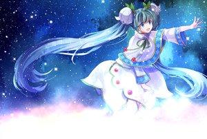 Rating: Safe Score: 50 Tags: aqua_hair blue_eyes hatsune_miku long_hair sekka skirt stars twintails vocaloid yuki_miku User: Flandre93