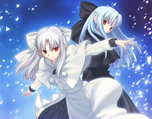 Rating: Safe Score: 27 Tags: gothic len loli melty_blood shingetsutan_tsukihime twins vampire white_len User: Oyashiro-sama