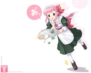 Rating: Safe Score: 11 Tags: maid pink_hair red_eyes tagme User: Oyashiro-sama
