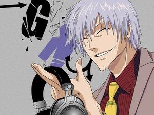 Rating: Safe Score: 12 Tags: all_male bleach headphones ichimaru_gin male User: Oyashiro-sama