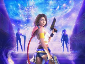 Rating: Safe Score: 77 Tags: bicolored_eyes brown_hair final_fantasy final_fantasy_x final_fantasy_x-2 gun paine realistic rikku short_hair weapon yuna_(ffx) User: tatchan