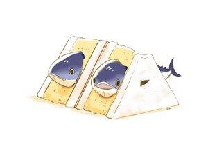 Rating: Safe Score: 24 Tags: animal chai_(artist) fish food nobody original polychromatic signed white User: otaku_emmy