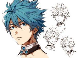 Rating: Safe Score: 26 Tags: all_male aqua_eyes aqua_hair blush closers male music nata_(closers) short_hair sketch white yukibi User: otaku_emmy