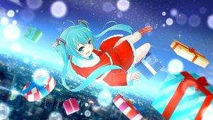 Rating: Safe Score: 49 Tags: christmas hat hatsune_miku santa_costume santa_hat vocaloid User: humanpinka