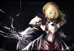 Rating: Safe Score: 41 Tags: armor blonde_hair dress fate/apocrypha fate_(series) green_eyes marumoru mordred short_hair User: RyuZU