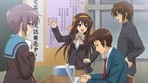 Rating: Safe Score: 57 Tags: computer game_cg group koizumi_itsuki kyon male nagato_yuki school_uniform suzumiya_haruhi suzumiya_haruhi_no_tsuisou suzumiya_haruhi_no_yuutsu User: SciFi