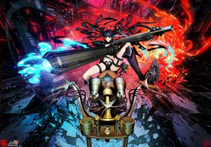 Rating: Safe Score: 89 Tags: arsenixc black_hair black_rock_shooter blue_eyes gun kuroi_mato weapon User: Black_Rock_Shooter