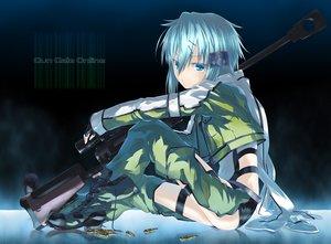 Rating: Safe Score: 246 Tags: blue_eyes blue_hair boots gun gun_gale_online shinon_(sao) shorts sword_art_online weapon y/n User: Shotermaxx