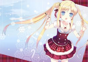 Rating: Safe Score: 78 Tags: christmas jin_young-in original snow twintails User: HawthorneKitty