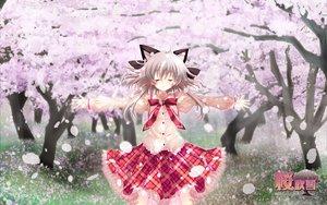 Rating: Safe Score: 15 Tags: gray_hair hanafubuki petals sakuramori_akasha sakurazawa_izumi seifuku User: Wizzard