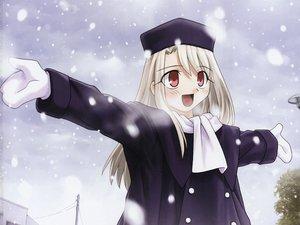 Rating: Safe Score: 16 Tags: fate_(series) fate/stay_night illyasviel_von_einzbern snow User: Oyashiro-sama
