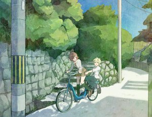 Rating: Safe Score: 38 Tags: bicycle danshi_koukousei_no_nichijou president_(danshi_koukousei) ringo-chan_(danshi_koukousei) User: HawthorneKitty