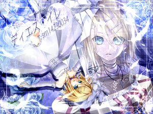 Rating: Safe Score: 17 Tags: aqua_eyes blonde_hair boots cage dress elbow_gloves feathers flowers gloves headdress kagamine_rin rose short_hair ueno_tsuki vocaloid User: MissBMoon