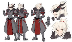 Rating: Safe Score: 40 Tags: armor fate/grand_order fate_(series) gloves headdress horns mordred polychromatic ponytail sketch white yellow_eyes yorukun User: otaku_emmy