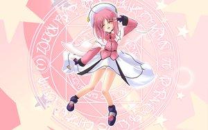 Rating: Safe Score: 9 Tags: caro_ru_lushe hat mahou_shoujo_lyrical_nanoha mahou_shoujo_lyrical_nanoha_strikers pink_hair skirt User: Oyashiro-sama