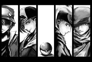 Rating: Safe Score: 57 Tags: hat hibiki kouki_(pokemon) monochrome pokemon red_(pokemon) scarf shadow_cat yuuki_(pokemon) User: PAIIS