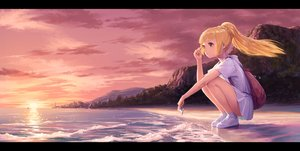 Rating: Safe Score: 149 Tags: beach blonde_hair braids building city clouds dress green_eyes lillie_(pokemon_sm) long_hair noske pokemon ponytail sky sunset water User: RyuZU