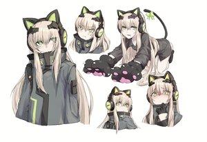 Rating: Safe Score: 46 Tags: alma01 animal_ears anthropomorphism bow catgirl girls_frontline gloves green_eyes headphones long_hair sketch tail tmp_(girls_frontline) white_hair User: BattlequeenYume