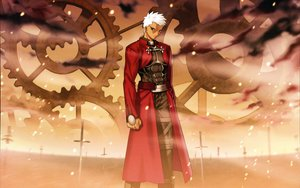 Rating: Safe Score: 18 Tags: all_male archer dark_skin fate_(series) fate/stay_night male skintight sword weapon white_hair User: Wizzard