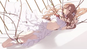 Rating: Safe Score: 117 Tags: barefoot brown_eyes brown_hair cait dress long_hair navel pointed_ears ribbons rope sword_art_online yuuki_asuna User: BattlequeenYume