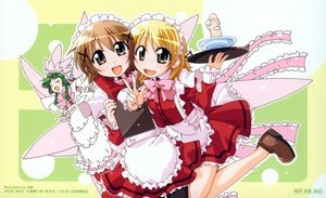 Rating: Safe Score: 1 Tags: hidamari_sketch maid miyako principal waitress yoshinoya-sensei yuno User: 秀悟