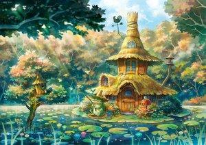 Rating: Safe Score: 93 Tags: animal forest frog kemi_neko landscape original scenic tree water User: mikuna