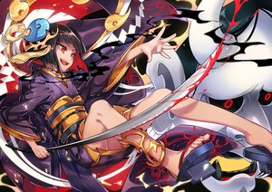 Rating: Safe Score: 30 Tags: all_male arashi_(forever_7th_capital) black_hair blood fang forever_7th_capital headdress japanese_clothes kimono male mask red_eyes scar shi_jun_ti short_hair sword trap weapon User: otaku_emmy