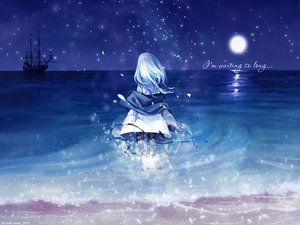 Rating: Safe Score: 116 Tags: aqua_hair beach boat long_hair moon night original petals polychromatic signed tagme tagme_(artist) water User: ssagwp