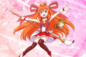 Rating: Safe Score: 16 Tags: blush cosplay crossover gekkan_shoujo_nozaki-kun long_hair orange_hair precure purple_eyes sakura_chiyo thighhighs ueyama_michirou User: gnarf1975