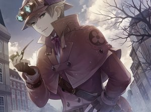 Rating: Safe Score: 45 Tags: all_male blonde_hair building cape city clouds dai_gyakuten_saiban gloves goggles green_eyes gyakuten_saiban hat male sherlock_holmes_(dai_gyakuten_saiban) short_hair sky tagme_(artist) tree waifu2x User: otaku_emmy