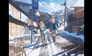 Rating: Safe Score: 25 Tags: building kneehighs original scarf scenic school_uniform skirt snow umbrella yukimachi_(yuki_no_city) User: FormX