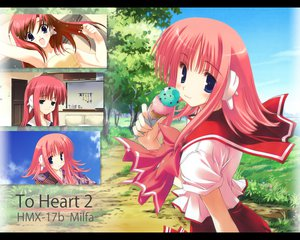 Rating: Safe Score: 5 Tags: aquaplus cat_smile kouno_harumi leaf nakamura_takeshi photoshop seifuku to_heart to_heart_2 User: Oyashiro-sama