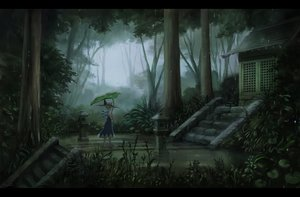Rating: Safe Score: 70 Tags: aqua_hair building cirno dress fairy forest grass hat leaves rain sasajqazwsx scenic signed touhou tree water wings User: FormX