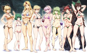 Rating: Safe Score: 79 Tags: animal_ears barefoot bikini breasts catgirl cleavage gradient group horns hoshiguma_yuugi kaenbyou_rin kisume komeiji_koishi komeiji_satori kurodani_yamame mizuhashi_parsee multiple_tails navel ootsuki_wataru reiuji_utsuho swimsuit tail touhou User: FormX